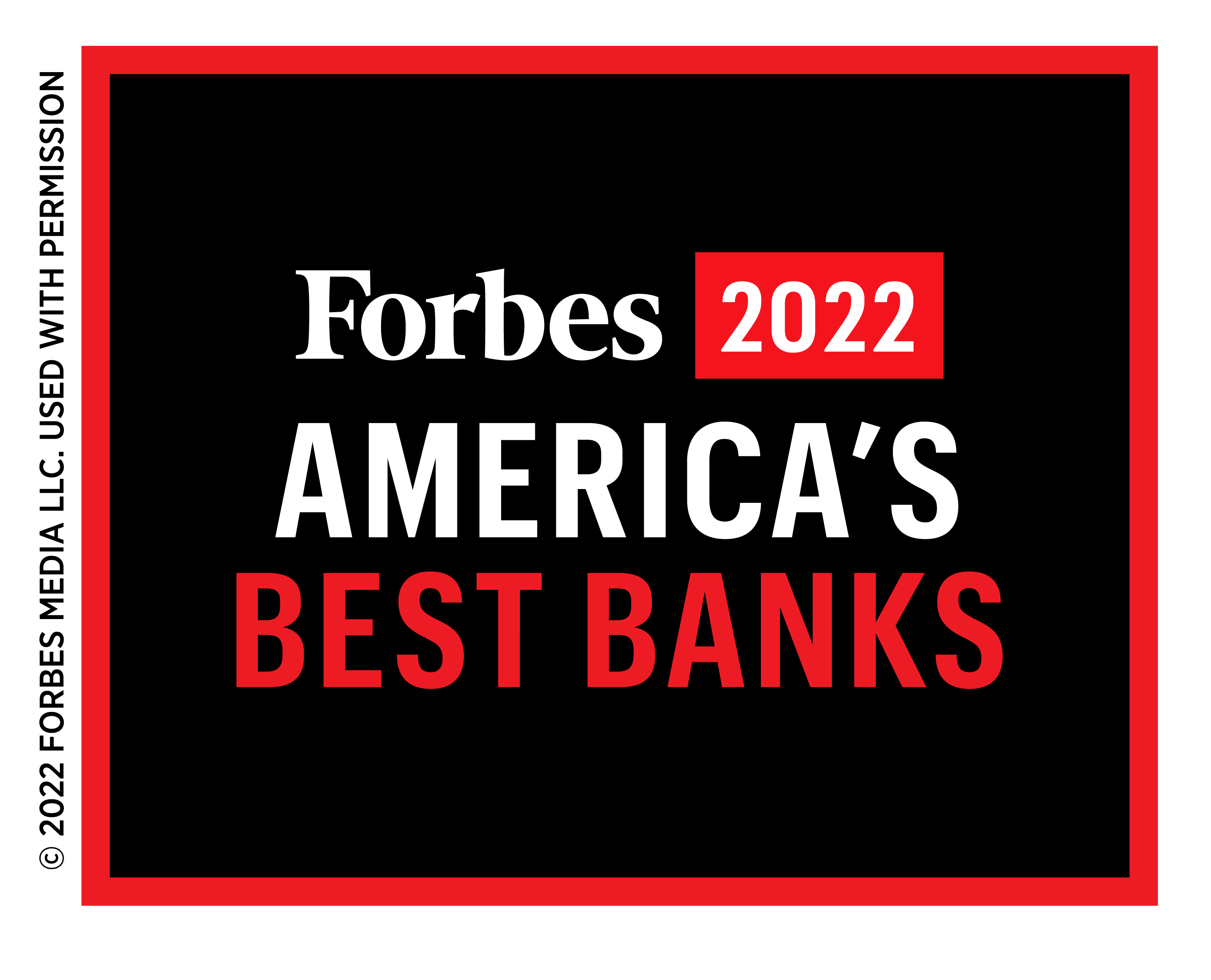 Forbes 2021 Best Banks in America Award Badge